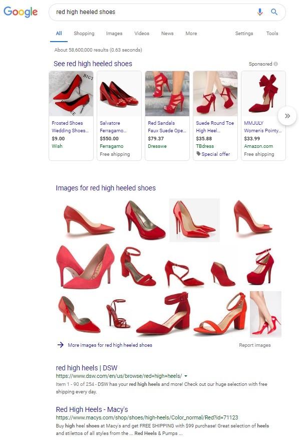 Deze afbeelding heeft een leeg alt-attribuut; de bestandsnaam is Google-Red-High-Heel-Shoes-Results.jpg